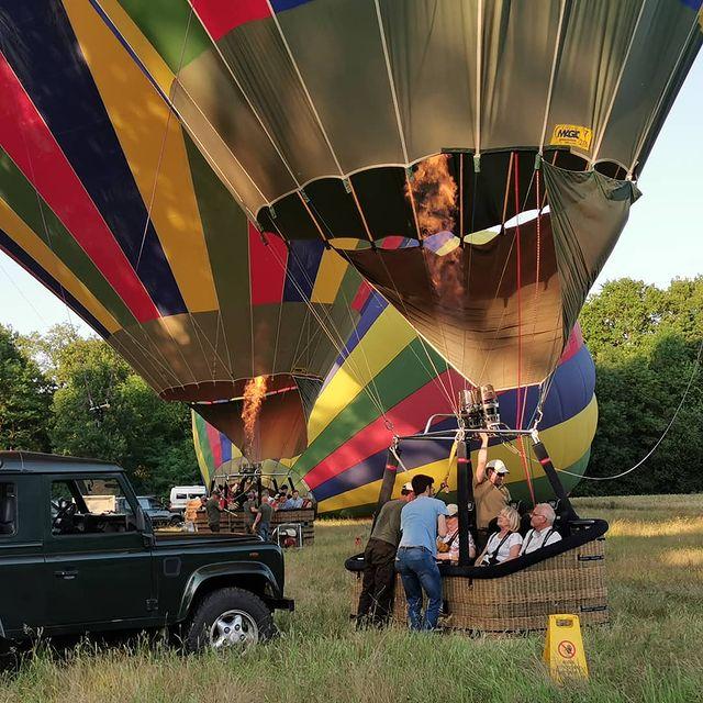 chateau de la loire montgolfière