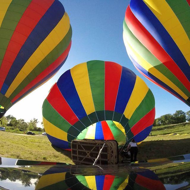 chateaux de la loire montgolfière