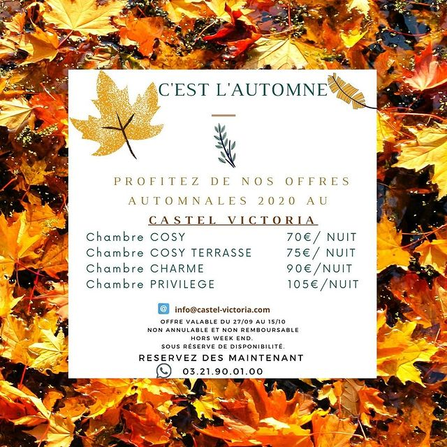 C'est déjà l'automne !! 🌰🍂🍁 Découvrez notre belle Station sous son paysage automnale et ressourcez-vous quelques jours en profitant de nos meilleures offres. #automne #letouquet #hautsdefrance #autumn  #septembre #autumnvibes #offre