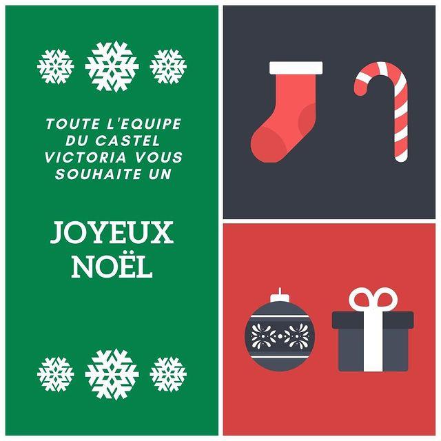 Valérie DECLERCQ et toute l'équipe du Castel Victoria vous souhaite un joyeux Noël 🎄🎁🍾