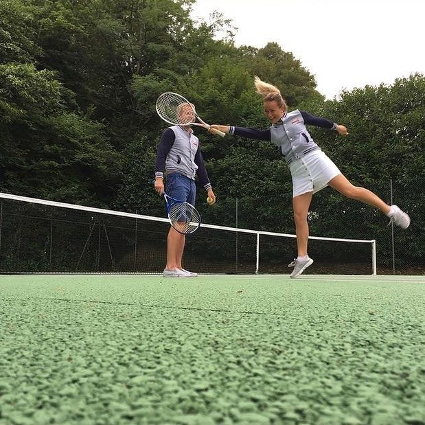 The perfect place to practice your backhand swing - a 15th Century Castle & 4-Star Hotel!🎾