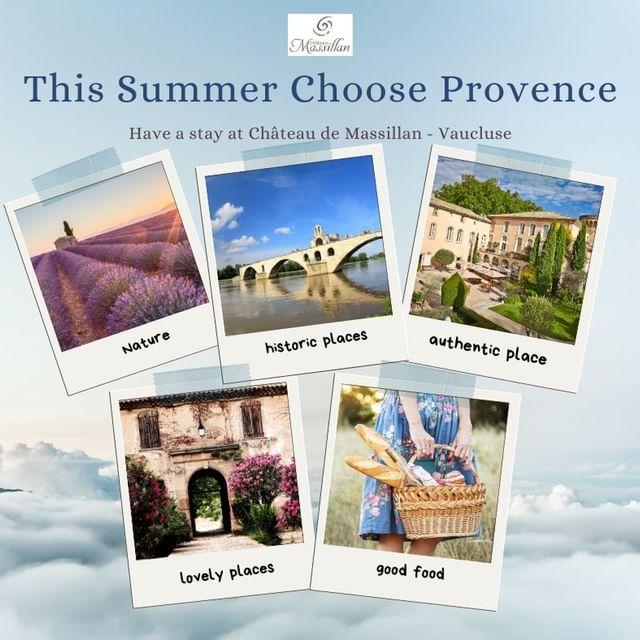 Il semble que cet été encore, les Français vont choisir... la Provence ! Avez-vous déjà préparé vos vacances d'été ? Conseillez-vous la Provence à vos amis ? Nous sommes impatients de vous accueillir au Château !  #chooseprovence #provence #vaucluse #chateaudemassillan #tourisme #tourisminprovence #Holidays #summer2021
