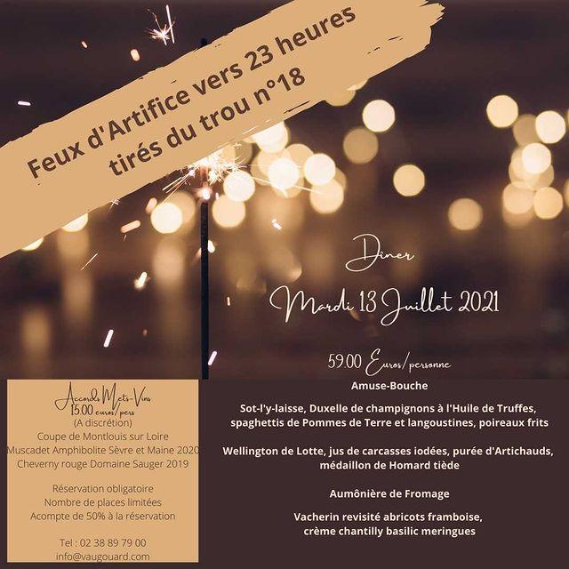 A vos agendas !!!!! Réservation auprès de la réception de l'hôtel au 02 38 89 79 00