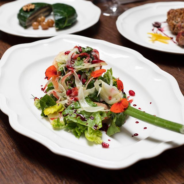 Local & seasonal greens cooked by our chef Franck Fontaine