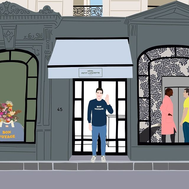 ✨ Many good vibes to come ✨  L'Hôtel Petit Lafayette ouvre ses portes  le 17 Mai 2021, nous sommes impatients de vous y accueillir ⭐   Hotel Petit Lafayette is finally opening its doors on May 17, 2021. We can't wait to welcome you ⭐️  _______________________ 🖍Thanks to the talented @marinedequenetain   #travel #Parisianlover #hotelover #Parissecret #Haussmann #hotellife #Instatravel #montmartre #operagarnier #roomwithaview #lemarais # #interiordesign