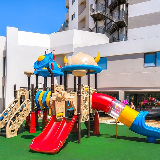 For the kids: a super outdoor playground with several possibilities of having fun!