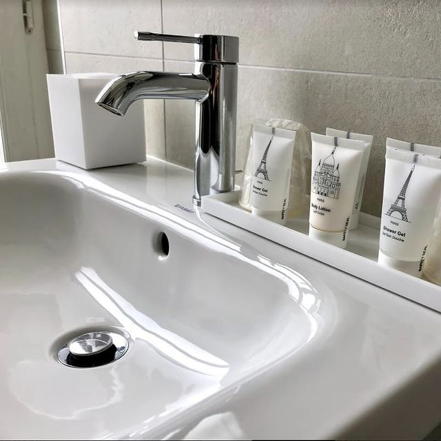 Prepare like at home at the Manufacture Hotel🤍🚿
