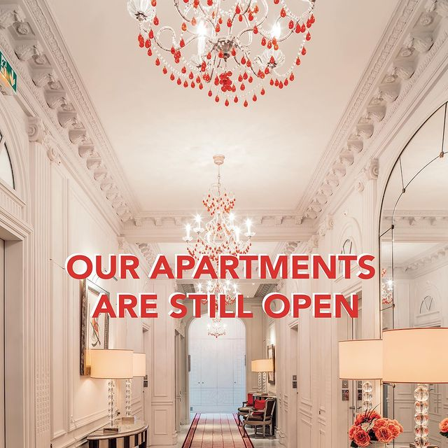 [Good News] 🎉 - Following the latest government announcements, we are pleased to announce you that your apartments just a stone's throw from the Champs-Élysées will remain open during this 2nd lockdown. • [Bonne Nouvelle] 🎉 - Suite aux dernières annonces gouvernementales, nous sommes heureux de vous annoncer que vos appartements à deux pas des Champs-Élysées restent ouverts durant ce 2ème confinement • http://www.majestic-appartementschampselysees.com • #enjoymajesticdays #ThePreferredLife  • #majestichotelandspaparis #leshotelsbaverez #studio #apartment #reopening #lifestyle #parisjetaime #parisian #parislife #visitparis #livethefrenchway #luxuryhotel #hotellife #travelandleisure #traveltheworld #parisluxurylifestyle #paris #hotellovers #travel