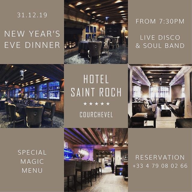 Happy New Year @ Saint Roch 🥂🌟 #lesaintrochcourchevel #lesaintroch #maisontournier #maisontournierstyle #restaurant #luxury #spa #hotel #pool #exclusive #courchevel1850 #travel #vacation #holydays #frenchalps #cozyhome #winter #fivestarhotel #saintrochexperience