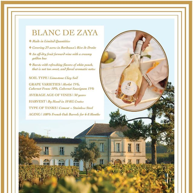 Have you tried Château Zaya's BLANC DE ZAYA White Wine yet? It's crisp, refreshing, and has the perfect amount of sweetness with white peach hints, without being too sweet, and floral aromas. For more information and to order your bottle in time for spring, visit www.chateauzayawinery.com.