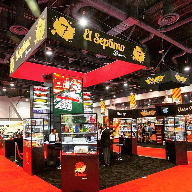Word around town is that El Septimo had the best-looking, and most visited booth at the @tobaccoplusexpo trade show this past weekend in Las Vegas. 👏🏼 Who got a chance to stop by & see our luxurious product displays? It included our show-exclusive 7 Collection First Edition blend and full line of accessories. 😍 See you next at the PCA this July - we are going bigger & better (if you can even imagine that as possible)! 💨🙌🏼